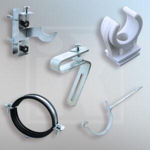 Sanitation and guttering fastenings